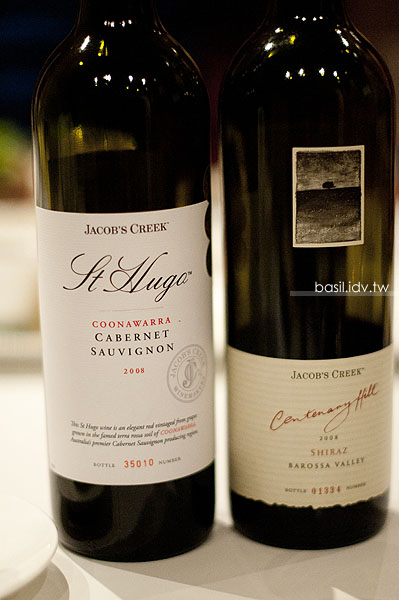 2008 Jacob's Creek St. Hugo Coonawarra Cabernet Sauvignon 和 2008 Jacob's Creek Centenary Hill Barossa Shiraz