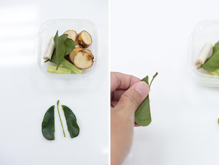 處理檸檬葉