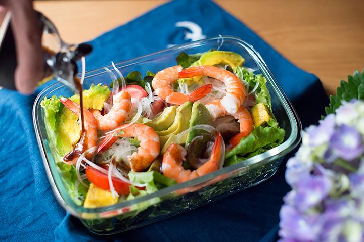 鮮蝦酪梨生菜沙拉