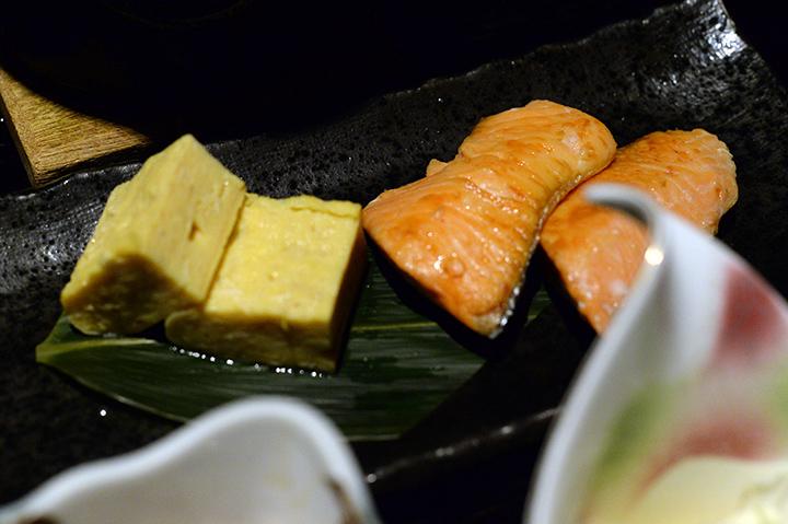 醬燒鮭魚、玉子燒