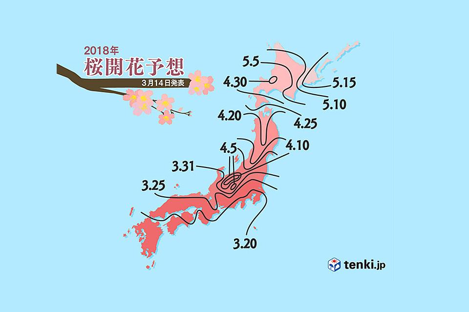 日本気象協会櫻花前線