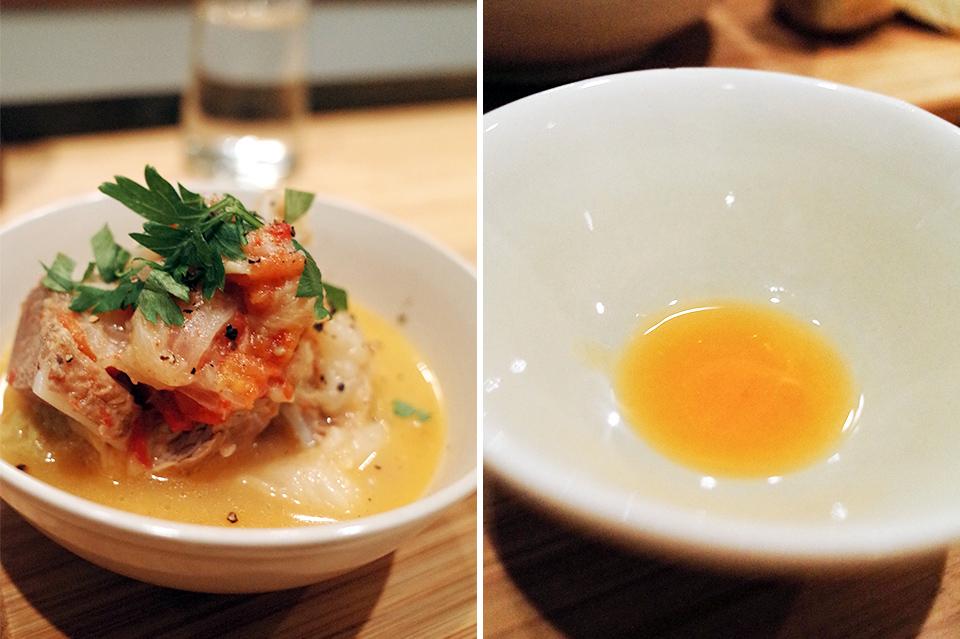 手工麵包‧高麗菜燉煮台灣黑豬三腳軟骨‧熟蕃茄