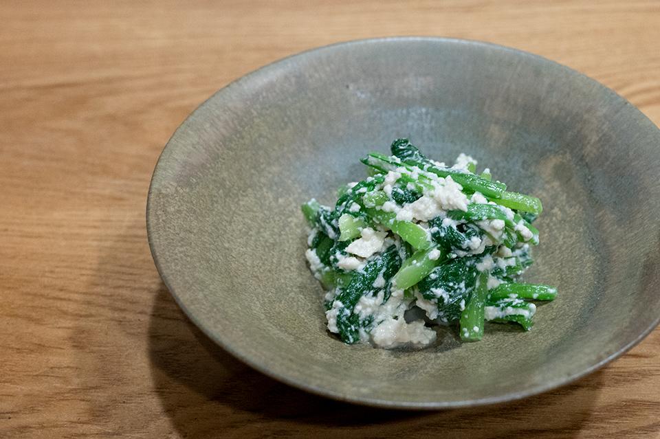 涼拌豆腐泥小松菜