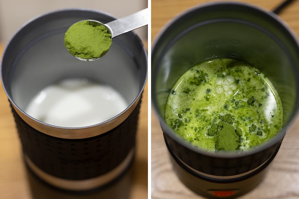 熱抹茶牛奶