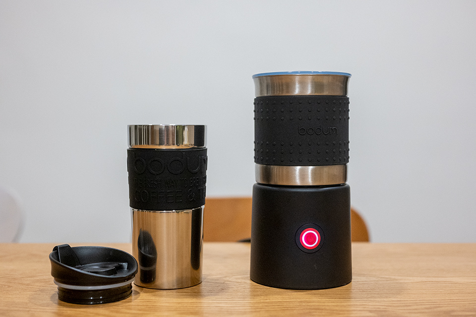 Bodum 加熱式電動奶泡機、雙層隨行杯