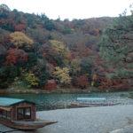 京都渡月橋周邊以及渡月亭
