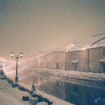 仿如粉彩畫下著大雪的北海道小樽