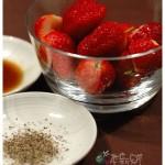 草莓沾現磨黑胡椒?