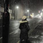 夜裡突然一陣大雪於北海道川湯溫泉