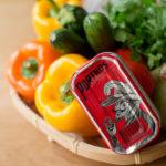 辣油沙丁魚罐頭變化版之辣油沙丁魚佐莎莎醬和辣油沙丁魚佐烤蔬菜
