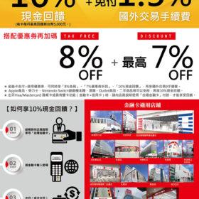 BIC CAMERA 優惠券+10% 台灣金融卡現金回饋