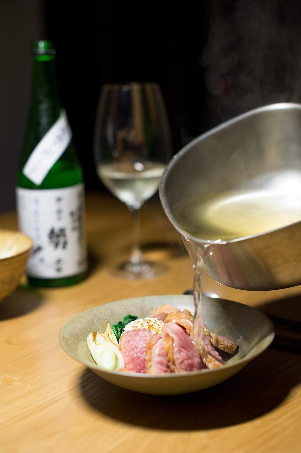 烤飯糰大蔥鴨湯