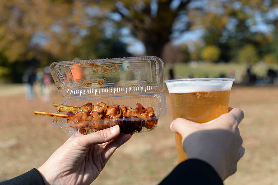 烤串+冰啤酒